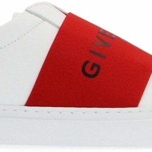 Givenchy Luxury Fashion Women's Red and White Slip-On Sneakers Designer Shoes