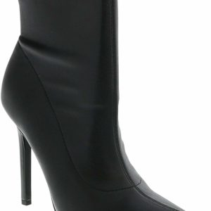 Versace Jeans High Heel Black Ankle Women's Boots Designer Shoes