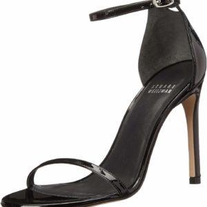 Black Stuart Weitzman Women's Nudistsong Dress Sandal High Heels
