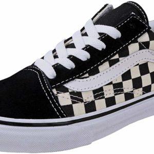 Checkered vans old skool shoes