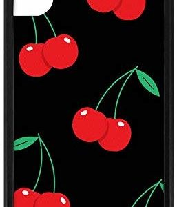 Wildflower Cherry Pop iPhone X and XS Black Cases VSCO