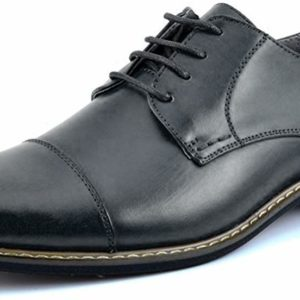 Men's Classic Modern Formal Black Oxford Lace Up Dress Shoes