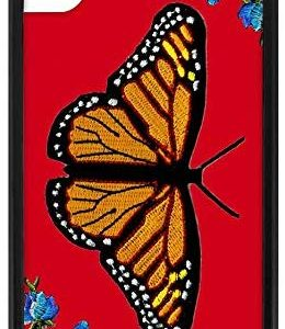 Wildflower Butterfly Red Case iPhone XR Girly Stylish Cases