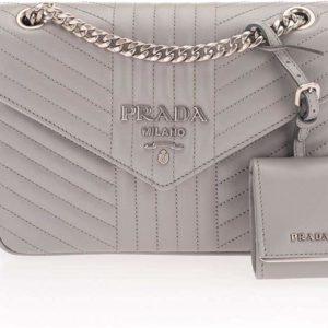 Prada Women's Gray Luxury Fashion Shoulder Bag
