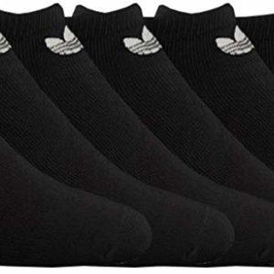 adidas Women's Originals No Show Black Tumblr Socks 6-Pack