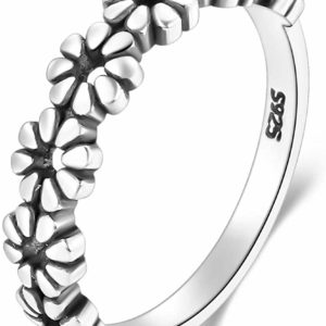 Women's 925 Sterling Silver Ring Daisy Flower Fashion Ring