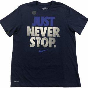 Nike Men's Dri-Fit T-Shirt Basketball Graphic Tee Navy Blue