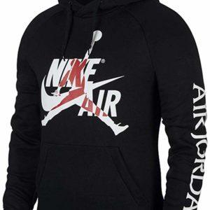 Nike Jordan Men's Black Hoodie Jumpman Classics Pullover