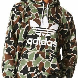 adidas Originals Men's Camo Hoodie Pullover Hooded Sweatshirt