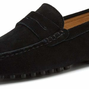 Men's Black Loafers Moccasins Driving Shoes Slip On Shoes