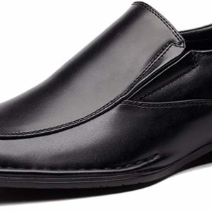 Men's Classic Formal Slip On Leather Black Modern Shoes