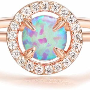 Women's 14K Adjustable Gold Plated Opal Ring