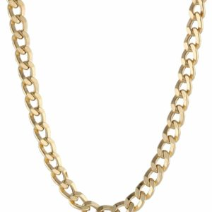 Men's 18K Solid Gold Cuban Link Chain Luxury Necklace