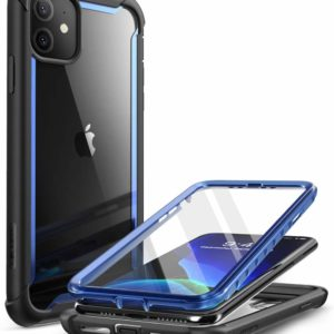 iPhone 11 Transparent Case Dual Layer Blue Screen Protector