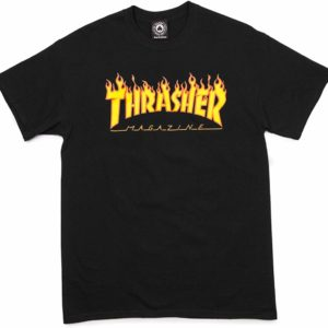 Thrasher Flame Black Tee