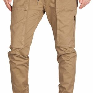 Men's Classy Formal Dark Golden Casual Chino Cargo Pants