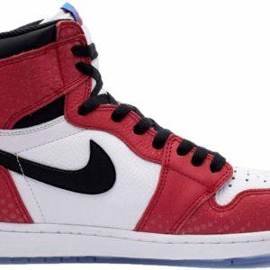 Nike Air Jordan 1 Retro High OG Spiderman Origin Story Street Style Sneakers