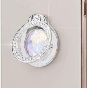 Girls Diamond Stand Phone Ring Silver Smartphone Holder Grip