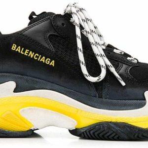 Balenciaga Triple S Luxury Fashion Black Sneakers Designer Shoes