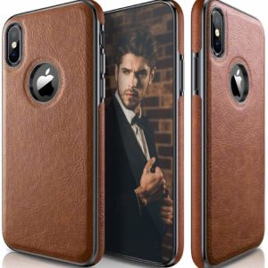 iPhone X & XS Case Premium Leather Scratch Resistant Cover