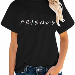 Friends Black T-Shirt Vintage Graphic Tee