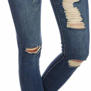 Women's Distressed Blue Skinny Destroyed Ripped Jeans Casual Style