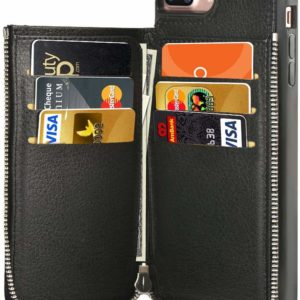 iPhone 7 & 8 Plus Wallet Black Case Credit Card Holder Slot