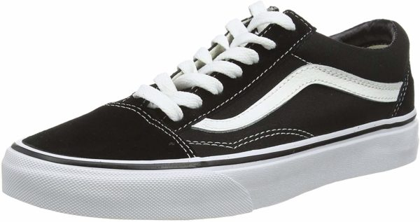 Black Vans Old Skool Unisex Low-Top Trainers Shoes