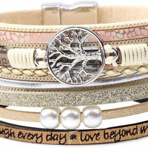 Girl Simple VSCO Bracelet Boho Wrap Tree of Life Teen Jewelry