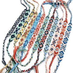 Chevron VSCO Friendship Bracelets Hippie Style 12 Pack
