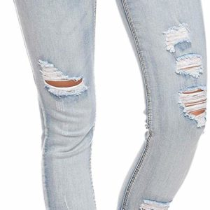 Women's Distressed Ripped Skinny Destroyed Jeans Retro Style