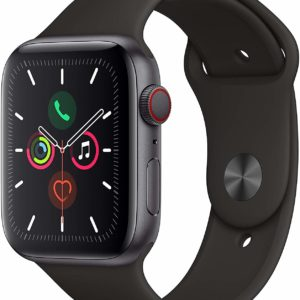 Space Gray Apple Watch Series 5 GPS + Cellular Black Band
