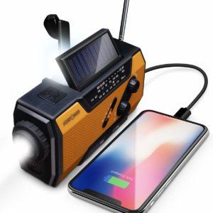 Solar Power Bank LED Flashlight, Smartphone USB Charger
