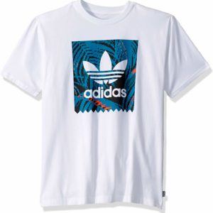 adidas Originals Men's White Skate Tee Blackbird Print T-Shirt