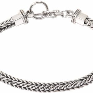 925 Sterling Silver Men's Chain Stylish Bracelet