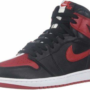 Nike Air Jordan 1 Retro High OG Black University Red White Street Style Sneakers