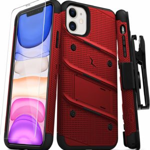 iPhone 11 Red Case Heavy-Duty Military-Grade Drop Protection