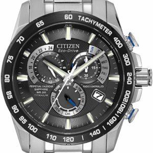 Men's Citizen Silver Watch with Date Titanium Perpetual