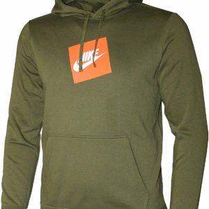 Nike Men's Green Hoodie Fashion Fleece Pullover
