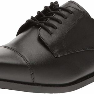 Men's Formal Traditional Black Oxford Leather Dress Shoes