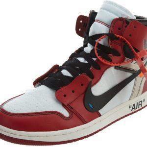 Off-White Red Nike Air Jordan 1 Retro High OG The Ten Street Style Sneakers