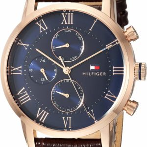 Men's Tommy Hilfiger Sport Quartz Watch Brown Leather Strap