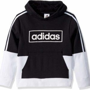 adidas Black Hoodie Boys' Colorblock Pullover Sweatshirt