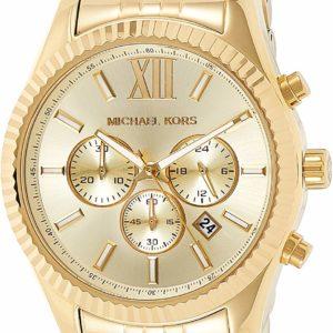 Michael Kors Men's Lexington Chronograph Golden Watch