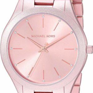 Michael Kors Women's Pink Stylish Runway Silver Quartz Watch