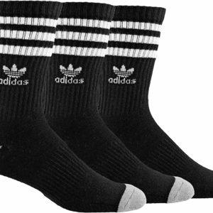 adidas Men's Crew Long Black Tumblr Socks 3 Pack