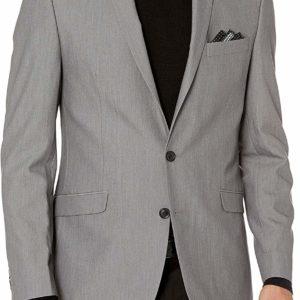 Men's Slim-Fit Grey Suit Blazer Business Classy Style