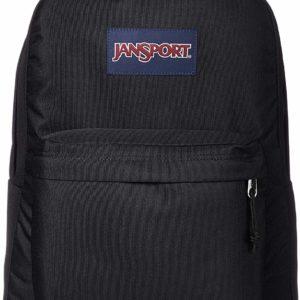 JanSport Superbreak Black Backpack School Bag