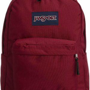 JanSport Superbreak Red Backpack Lightweight School Bag