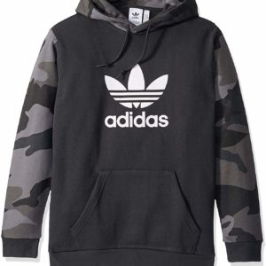 adidas Originals Hoodie Men's Black Camo Hooded Sweatshirt